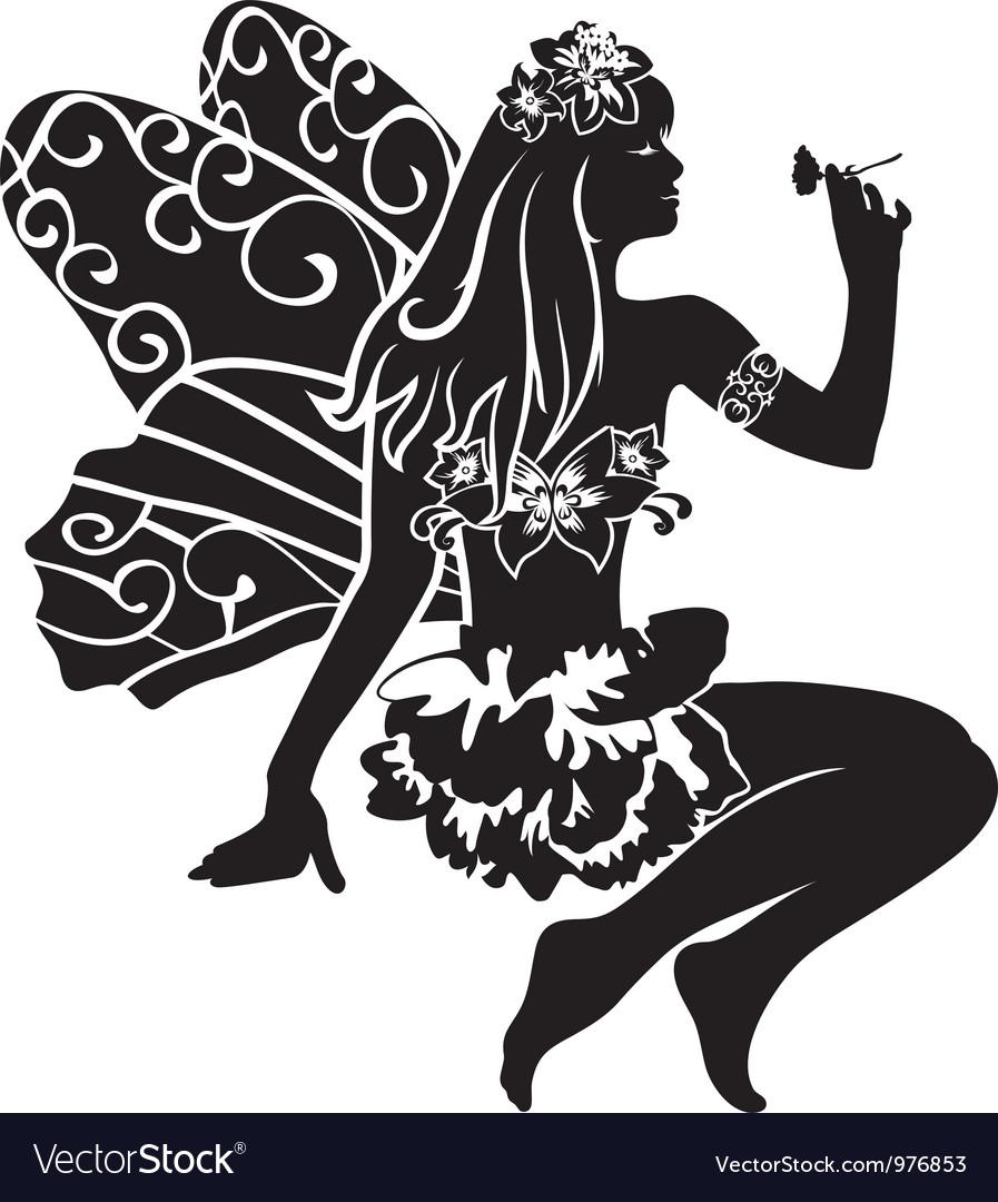 Fairy stencil vector | Price: 1 Credit (USD $1)