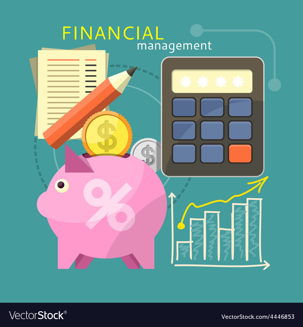 Financial management concept vector | Price: 1 Credit (USD $1)