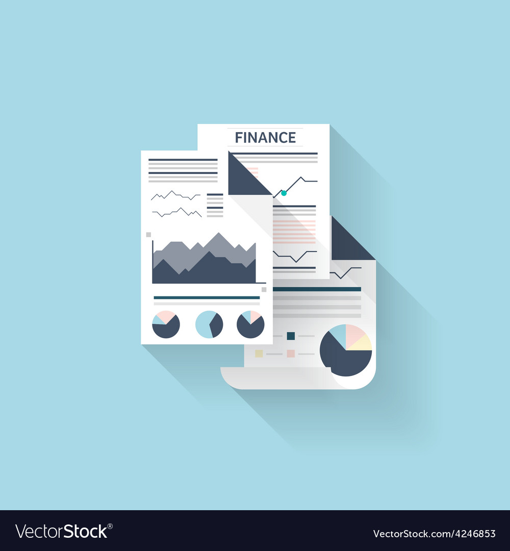 Flat web iconfinancial information vector | Price: 1 Credit (USD $1)
