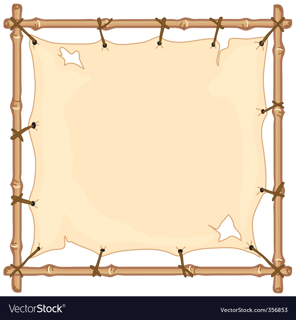 Old cloth on bamboo frame vector | Price: 1 Credit (USD $1)