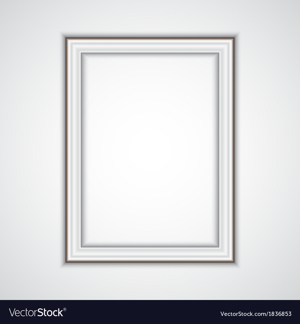 Realistic plastic frame on the wall vector | Price: 3 Credit (USD $3)