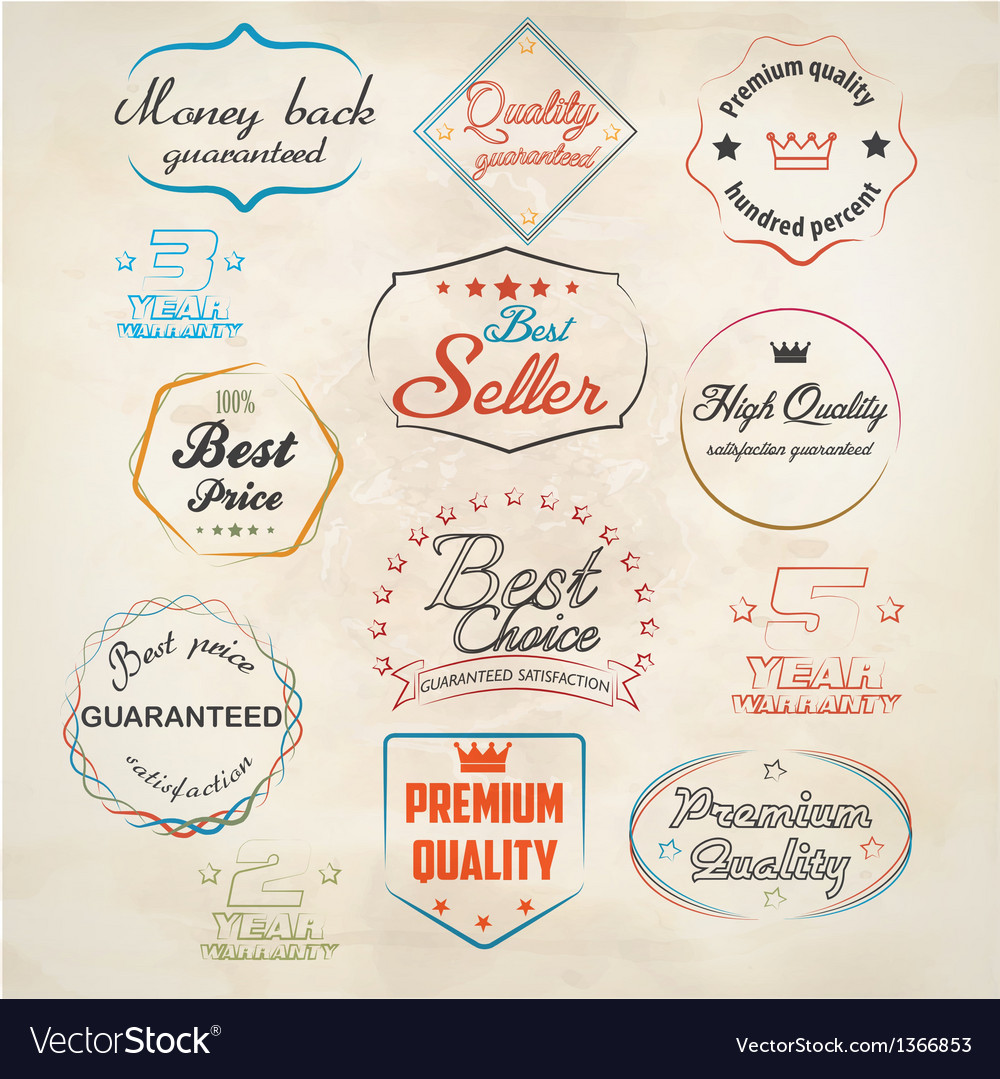 Set of badge and labels 3 vector | Price: 3 Credit (USD $3)