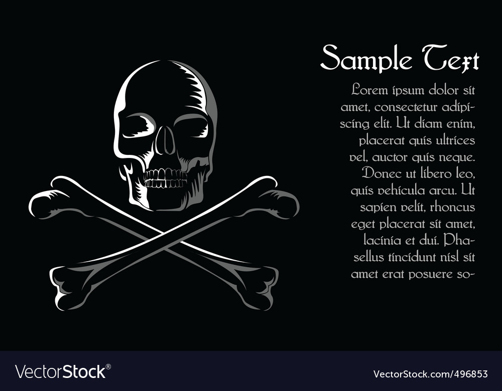 Skull with cross vector | Price: 1 Credit (USD $1)