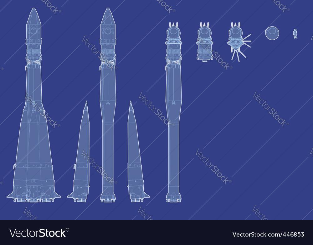Space rocket vector | Price: 1 Credit (USD $1)