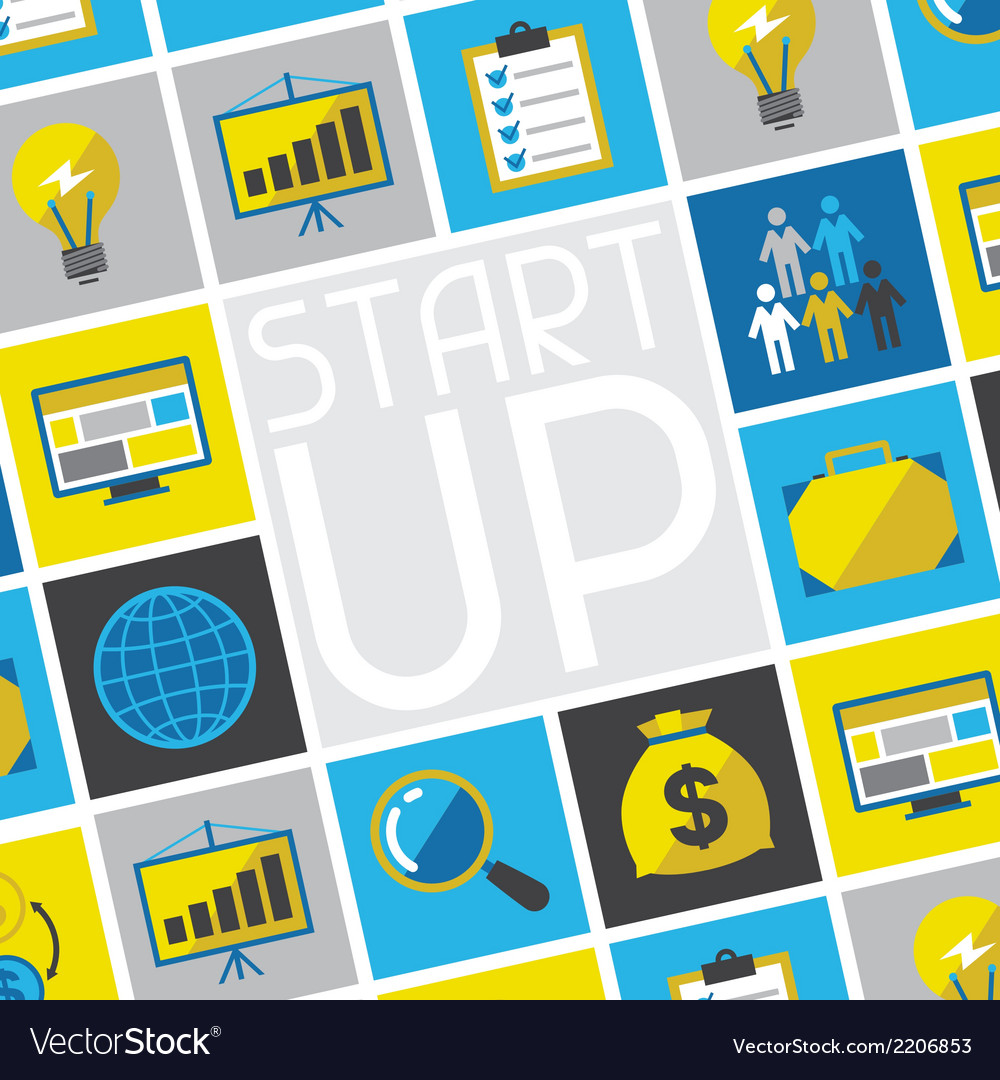Start-up business concept in flat design style vector | Price: 1 Credit (USD $1)