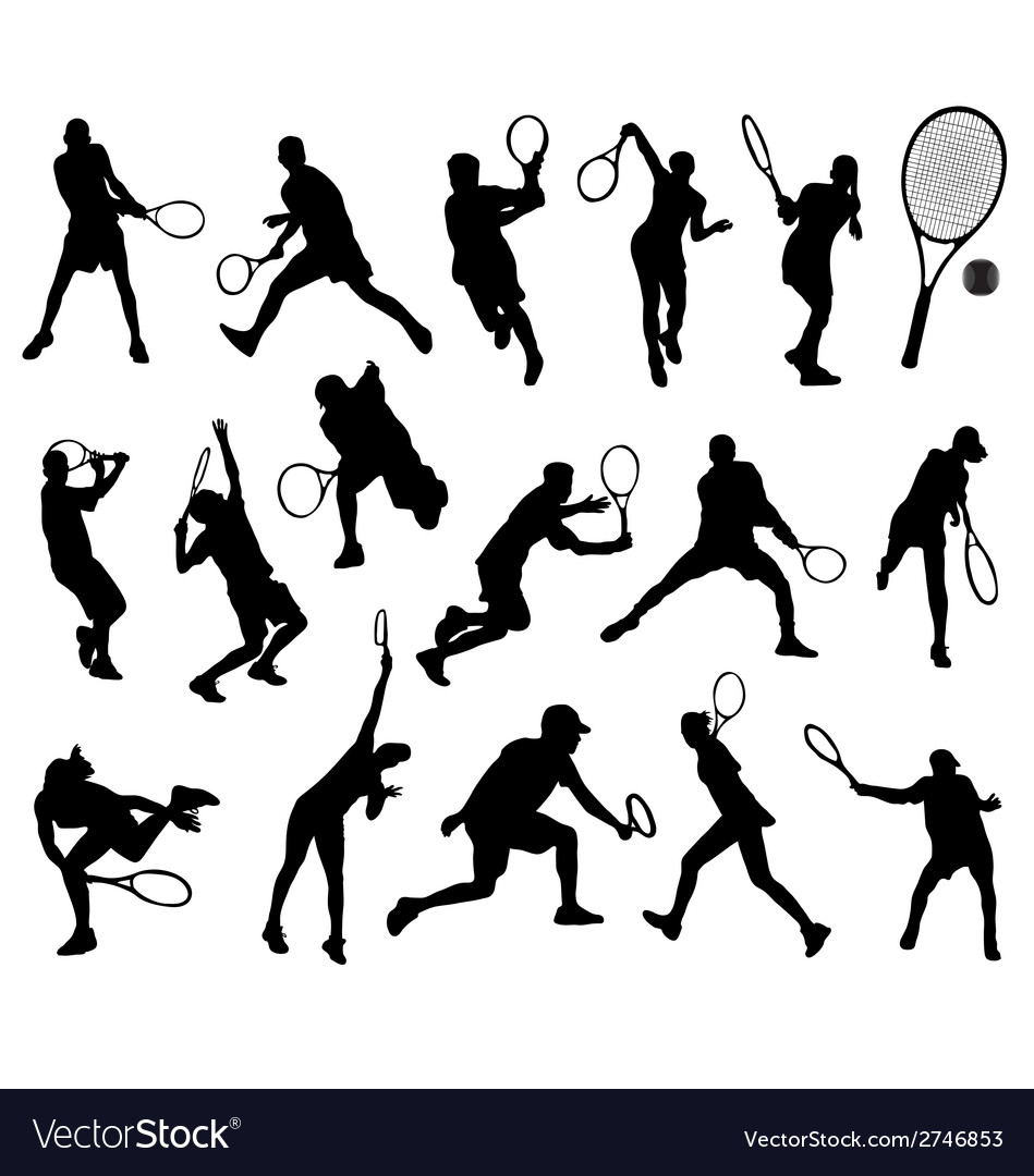 Tennis player 3 vector | Price: 1 Credit (USD $1)