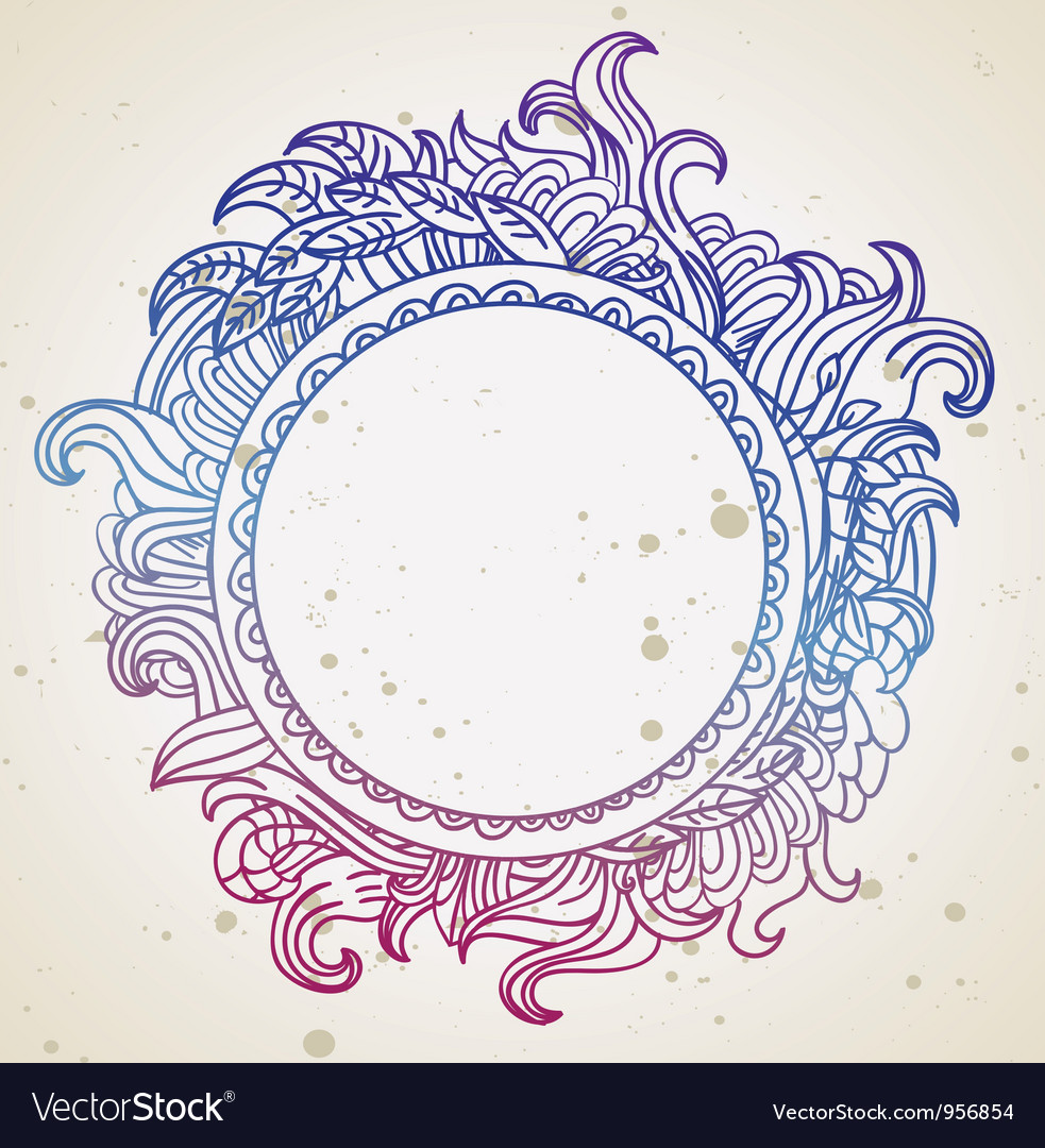 Abstract hand drawn frame with copy-space vector | Price: 1 Credit (USD $1)