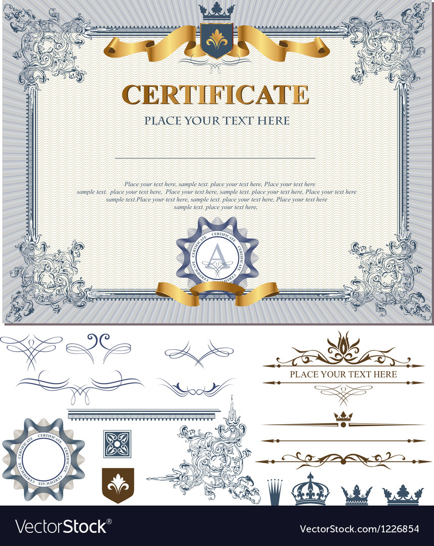 Certificate vector | Price: 1 Credit (USD $1)