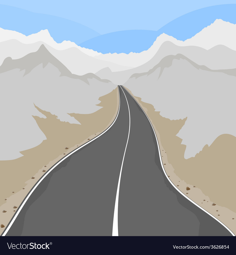 Country road vector | Price: 1 Credit (USD $1)
