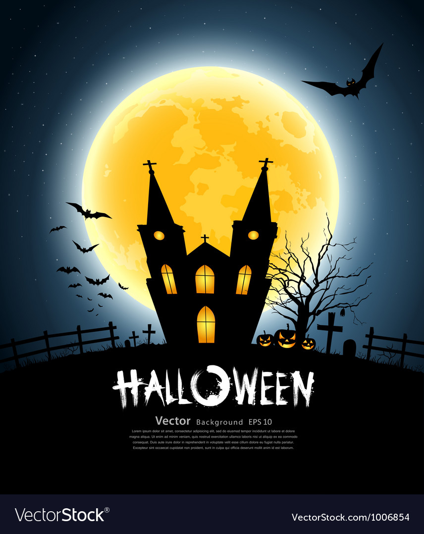 Halloween house party vector | Price: 1 Credit (USD $1)