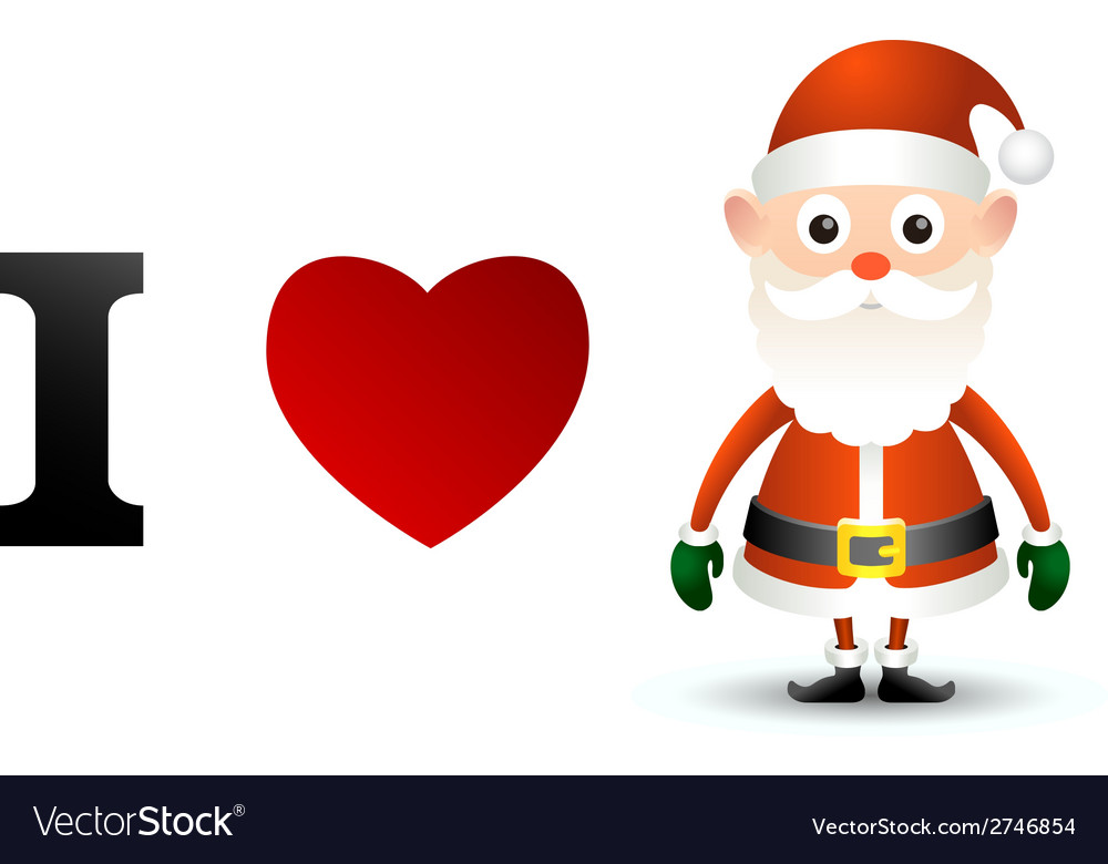 I love santa claus card vector | Price: 1 Credit (USD $1)