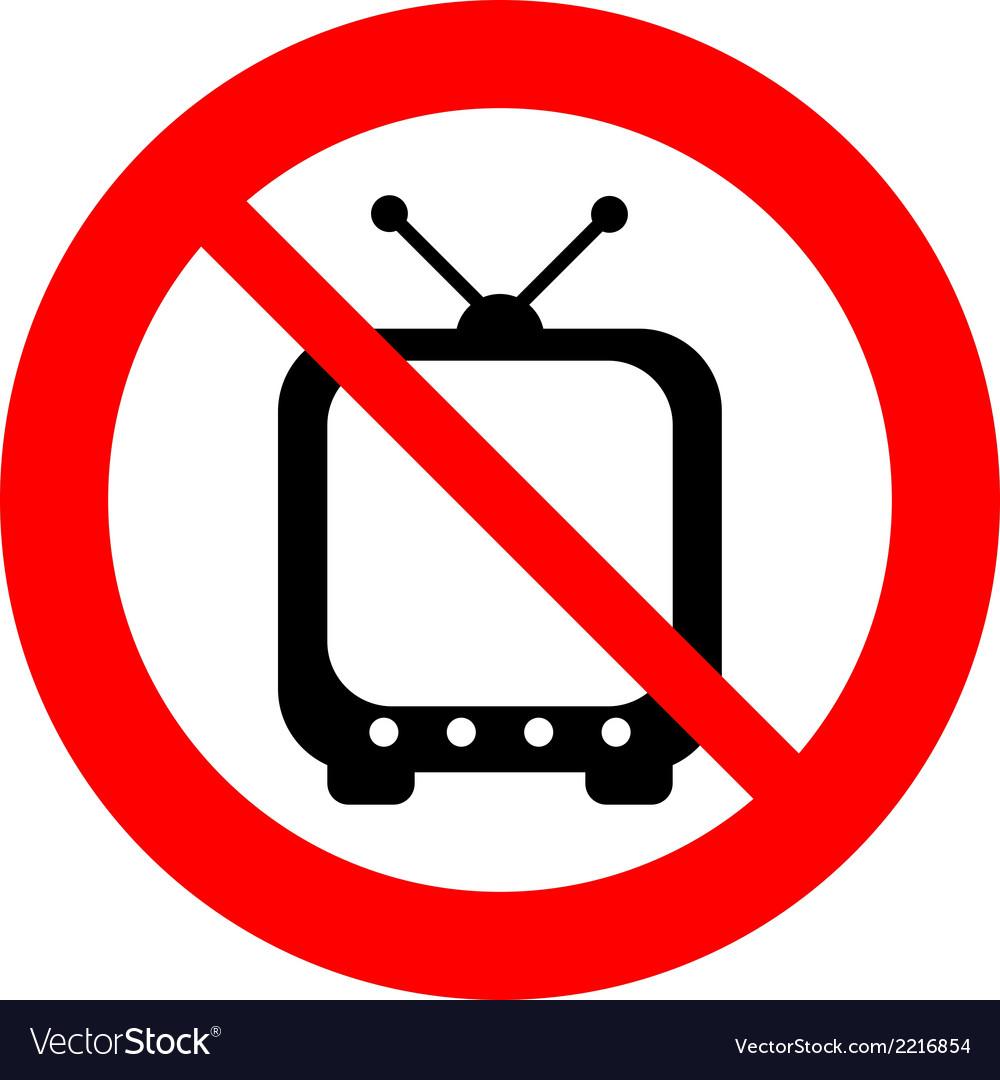 No tv sign vector | Price: 1 Credit (USD $1)
