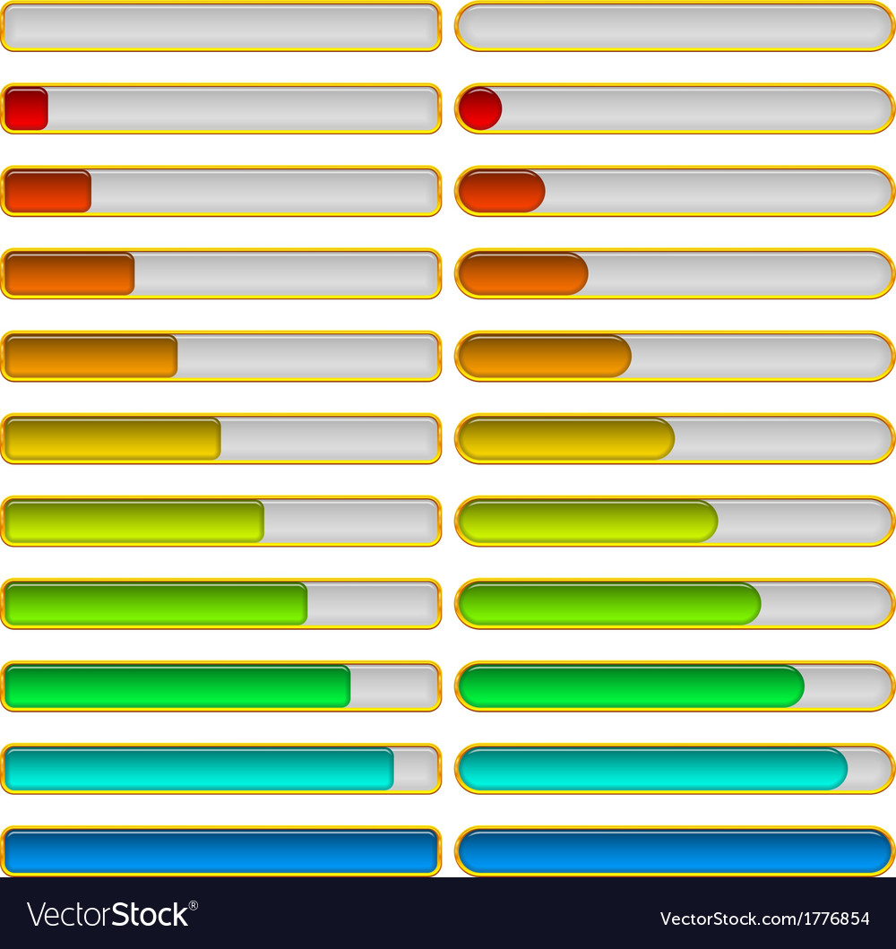 Progress bars set vector | Price: 1 Credit (USD $1)