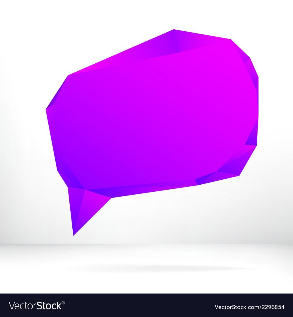 Purple speech bubble  eps8 vector | Price: 1 Credit (USD $1)