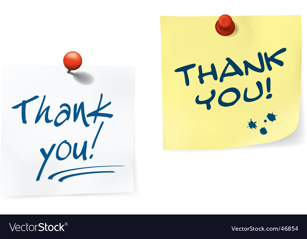 Thank you notes set vector | Price: 1 Credit (USD $1)