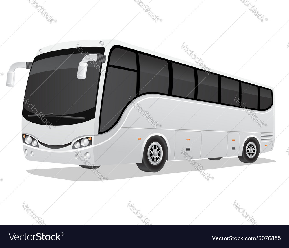 Big tour bus 02 vector | Price: 3 Credit (USD $3)