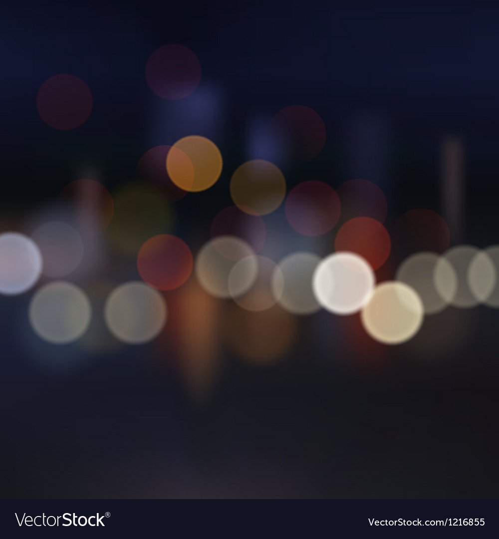 Blurred city at night background vector | Price: 1 Credit (USD $1)