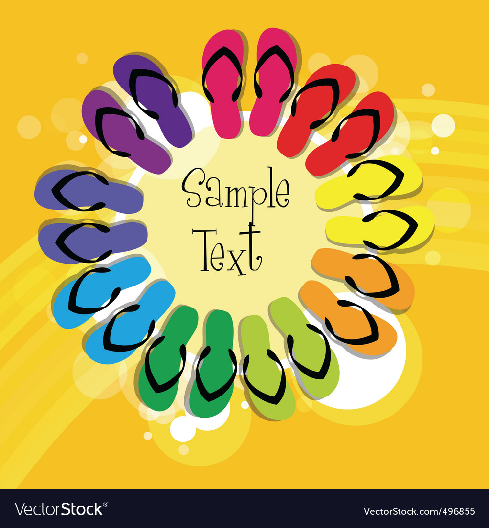 Colorful slippers vector | Price: 1 Credit (USD $1)