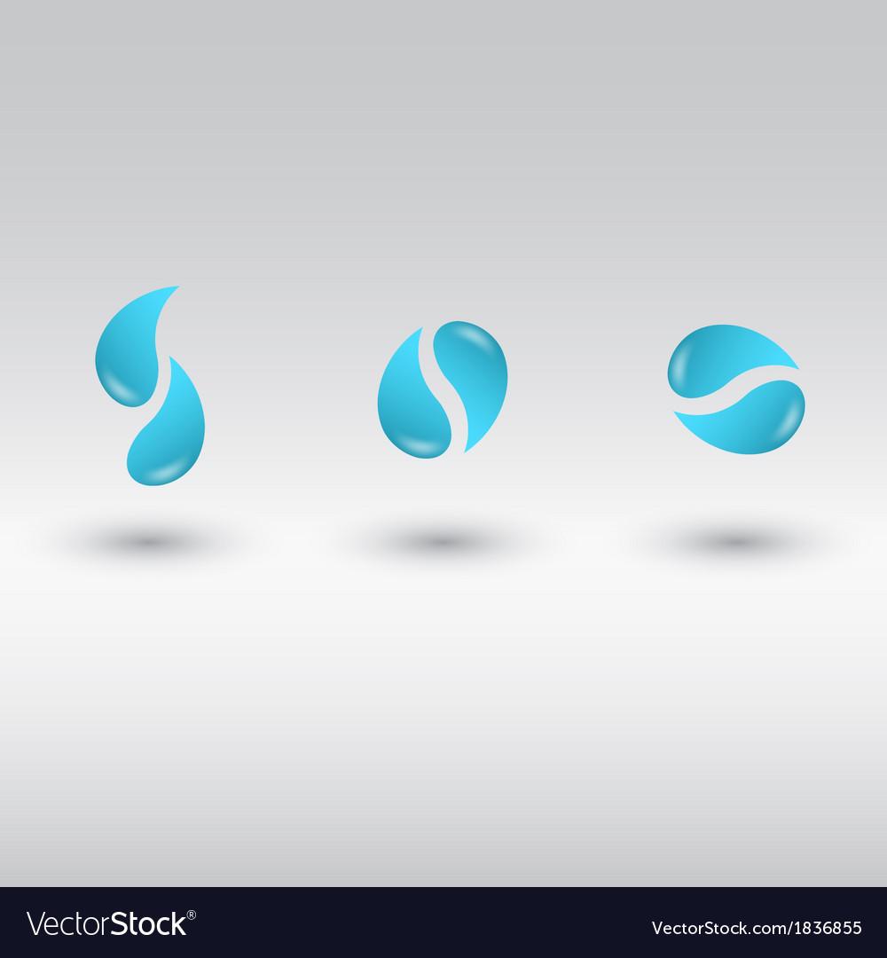 Drops logo vector | Price: 1 Credit (USD $1)
