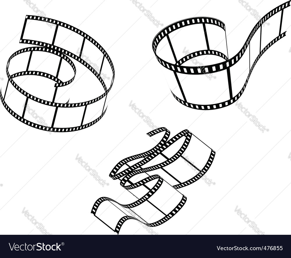 Films set vector | Price: 1 Credit (USD $1)