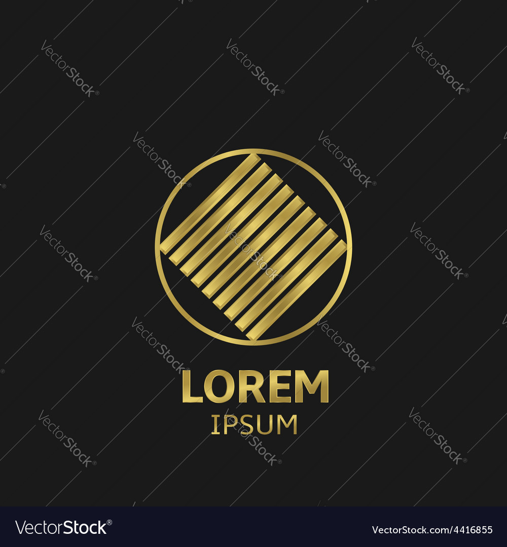 Golden logo vector | Price: 1 Credit (USD $1)
