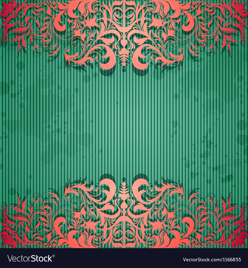 Luxury background with vintage frame and stripe vector | Price: 1 Credit (USD $1)