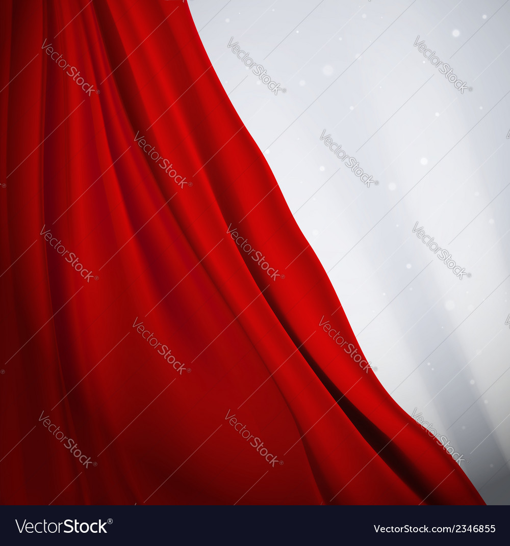 Red curtain vector | Price: 1 Credit (USD $1)