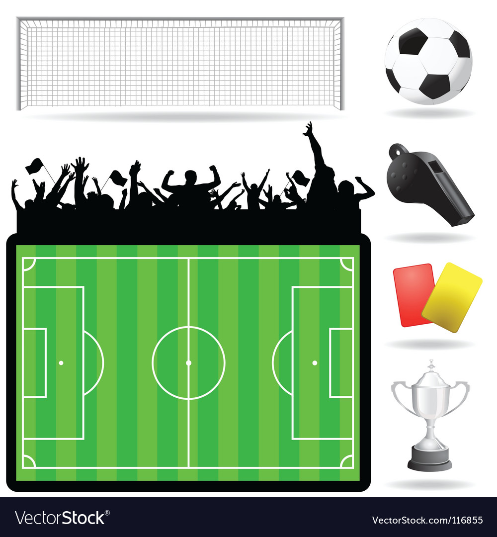 Soccer great set vector | Price: 1 Credit (USD $1)