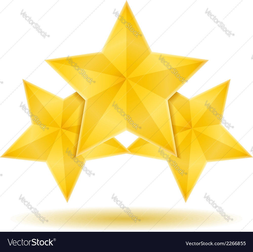 Three stars vector | Price: 1 Credit (USD $1)