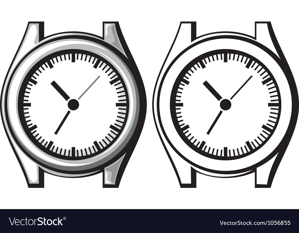 Wrist watch - wristwatch vector | Price: 1 Credit (USD $1)