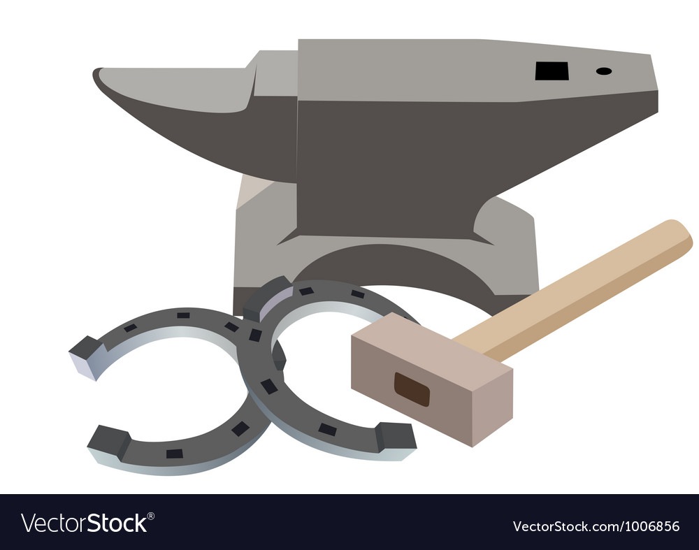 Anvil hammer and a horseshoe vector | Price: 1 Credit (USD $1)