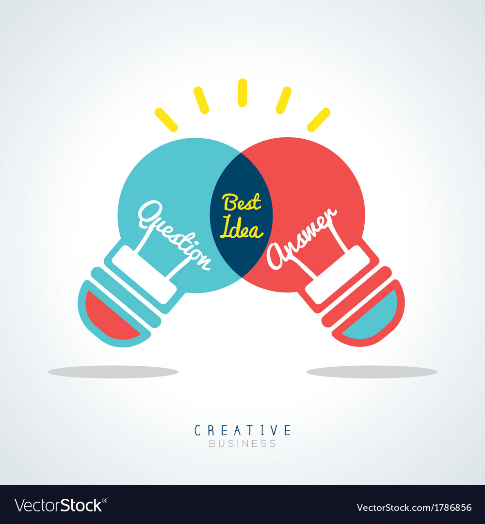 Best idea creative light bulb concept vector
