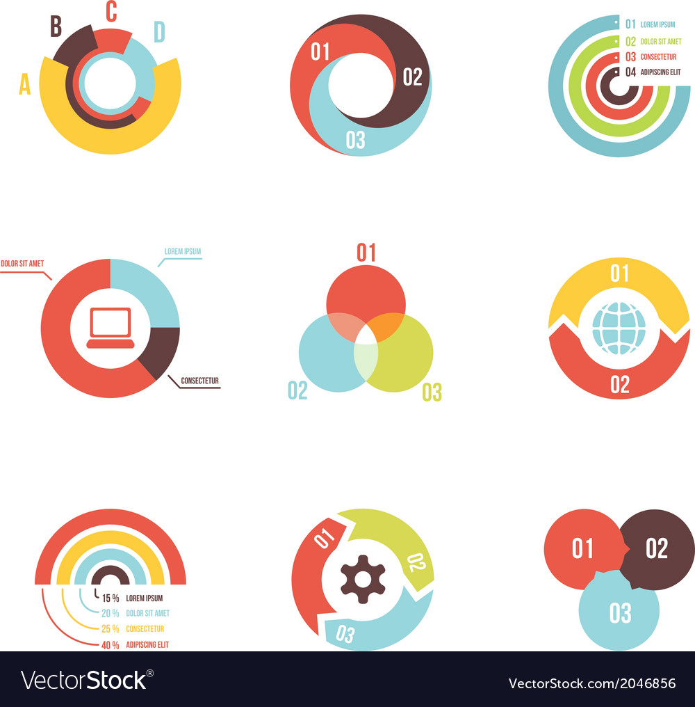 Circle infographic design templates vector | Price: 1 Credit (USD $1)