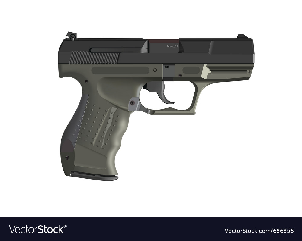 Detailed hand gun vector | Price: 3 Credit (USD $3)