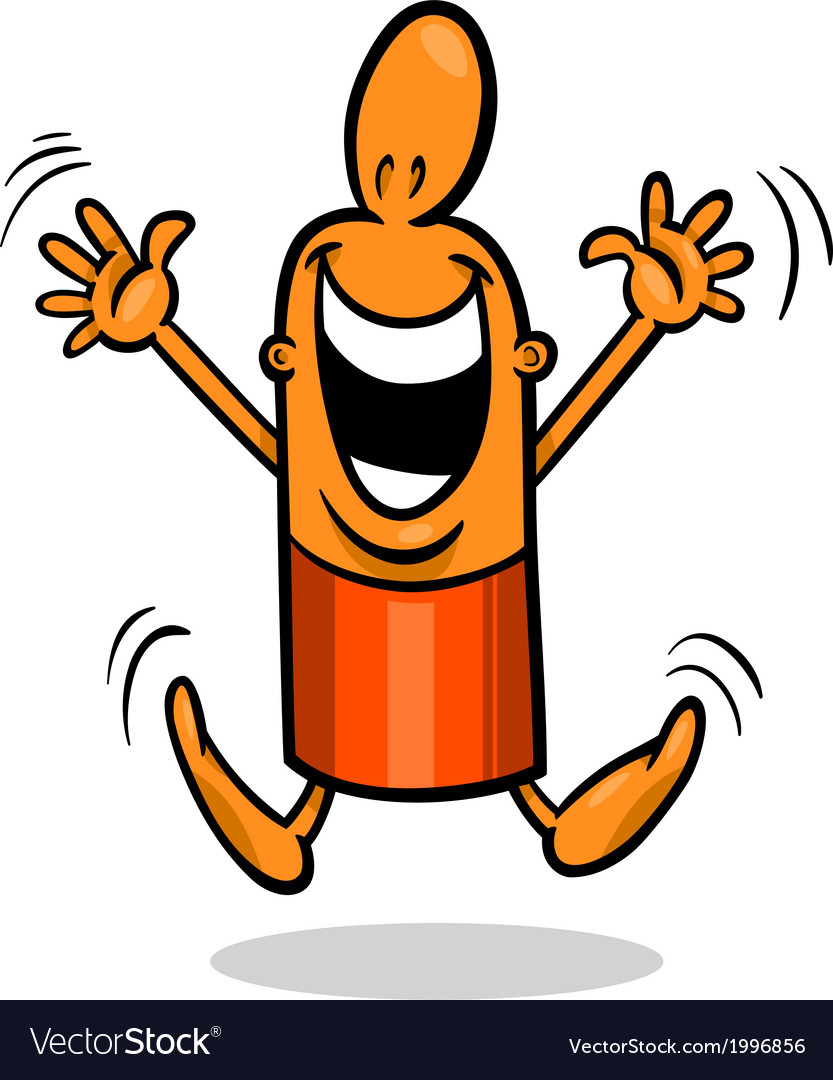 Excited guy cartoon vector | Price: 1 Credit (USD $1)