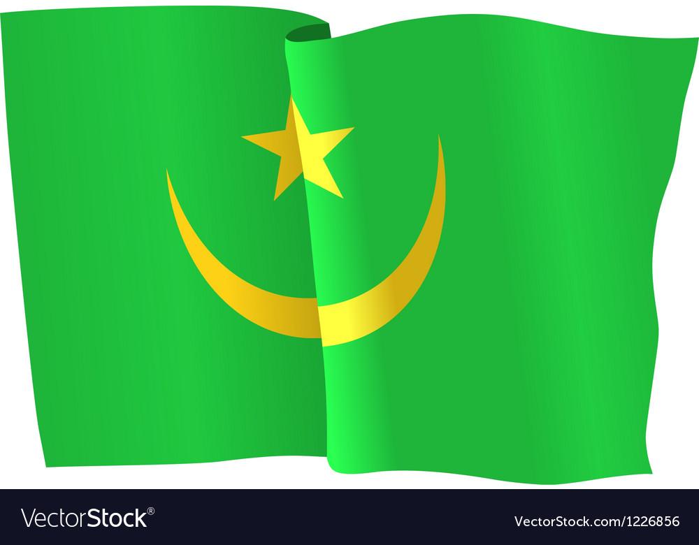 Flag of mauritania vector | Price: 1 Credit (USD $1)