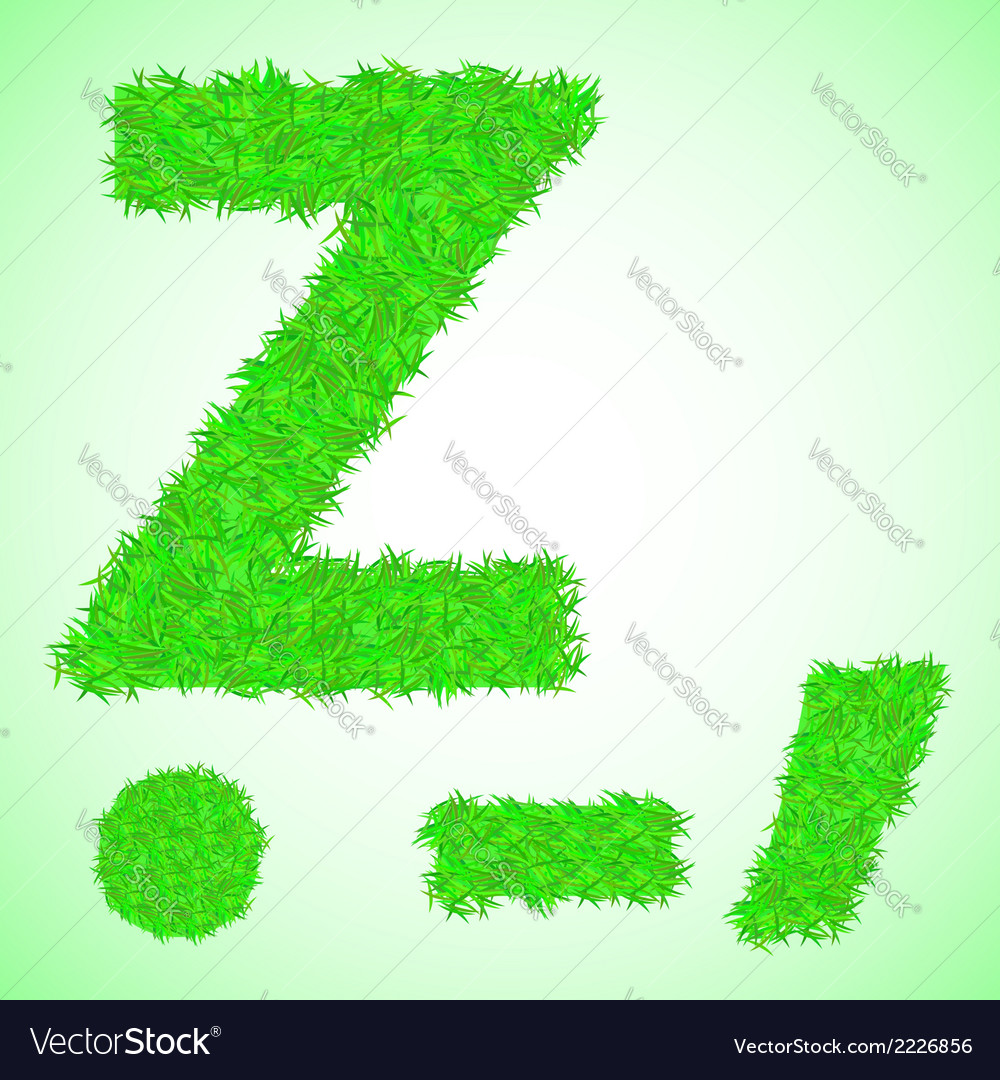 Grass letter z vector | Price: 1 Credit (USD $1)