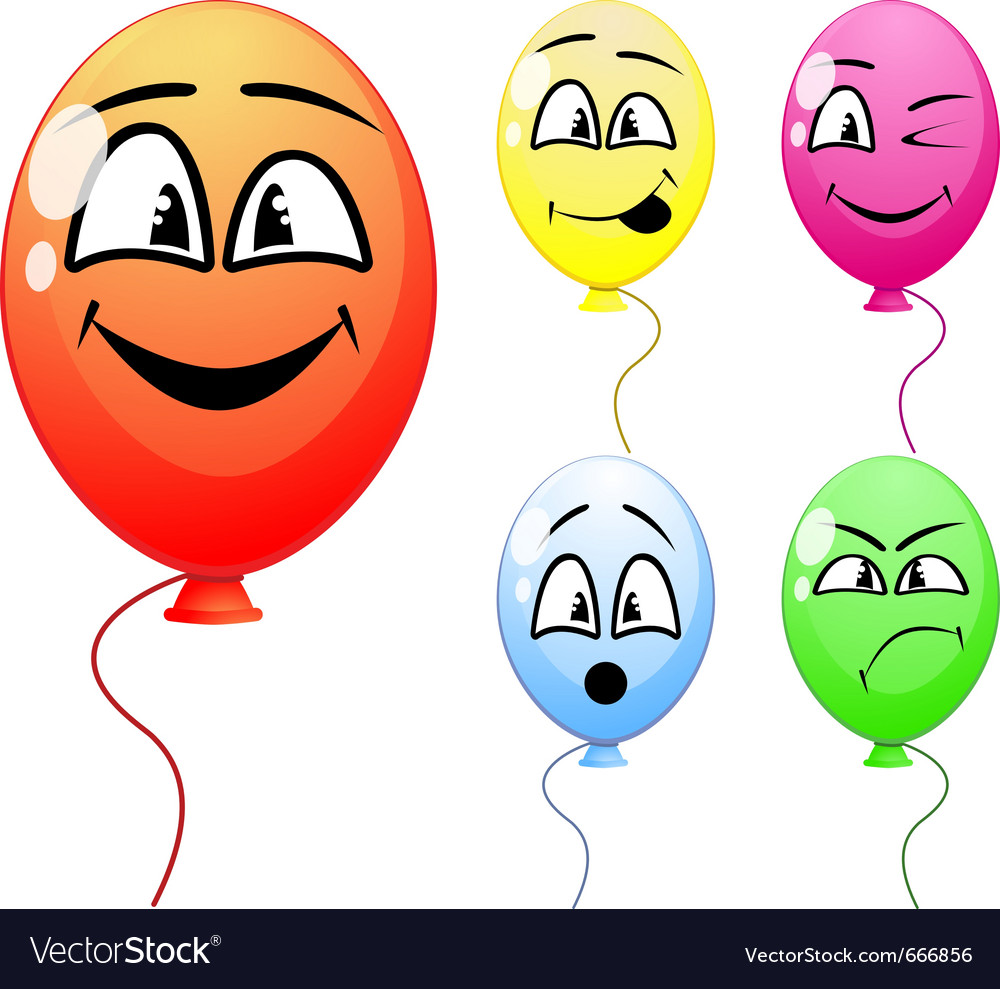 Party balloons vector | Price: 1 Credit (USD $1)