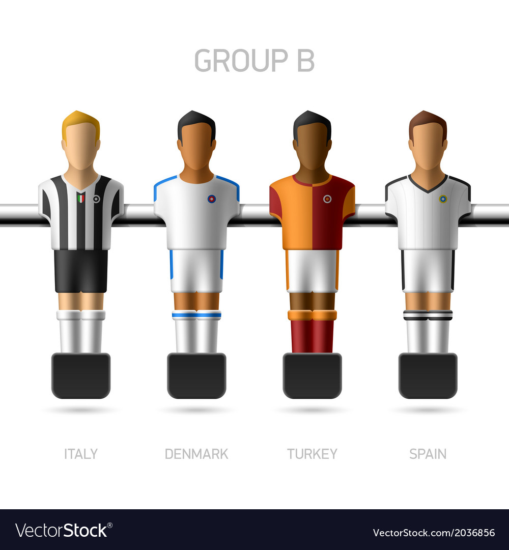 Table football foosball players group b vector | Price: 1 Credit (USD $1)