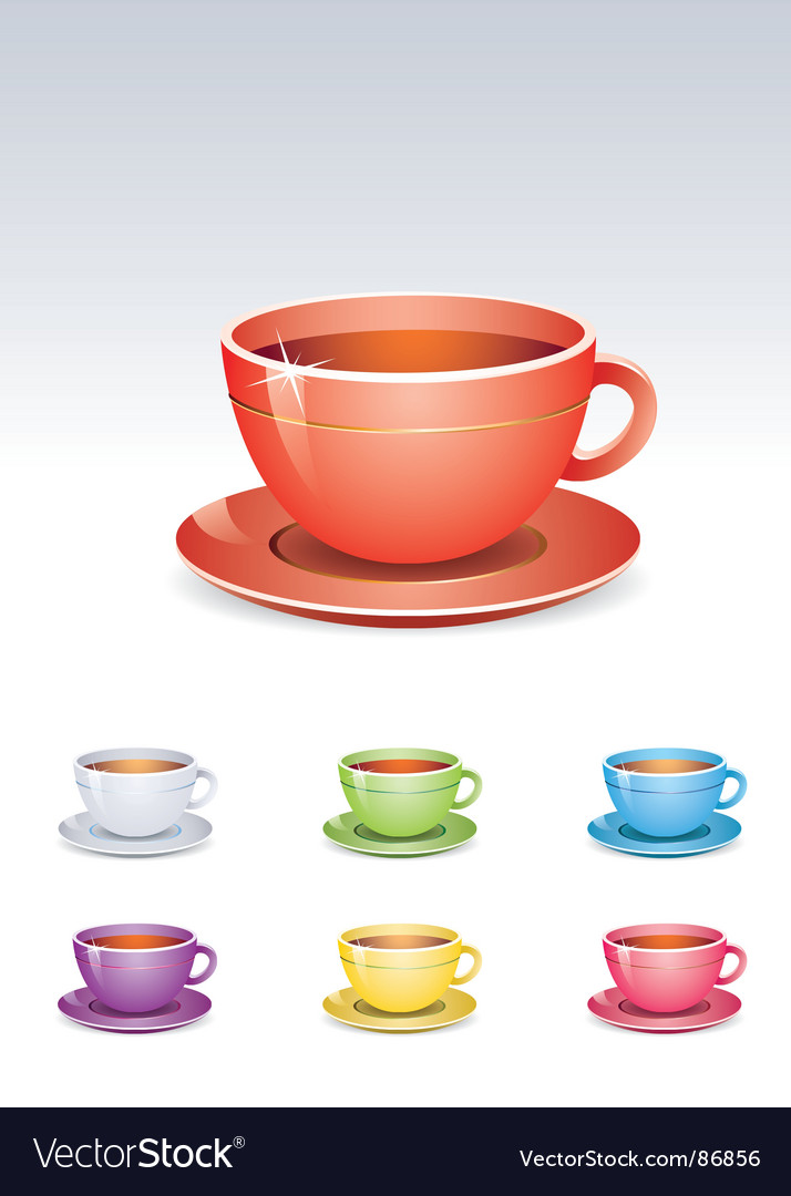 Tea cup vector | Price: 1 Credit (USD $1)