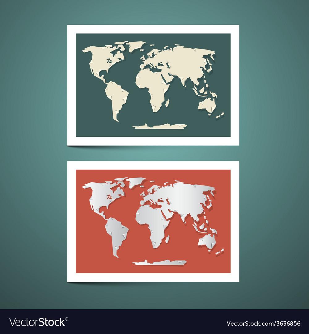 World map set vector   Price: 1 Credit (USD $1)