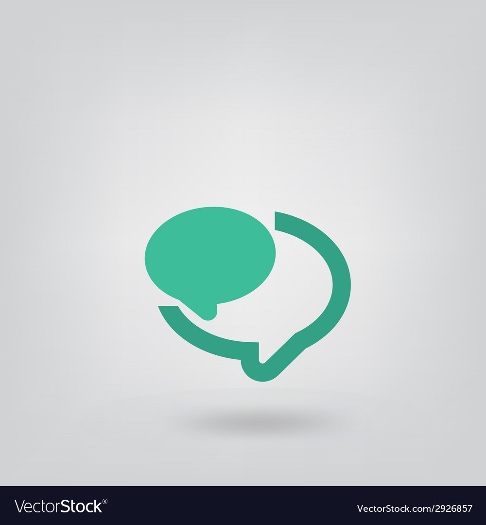 Abstract speech bubble vector | Price: 1 Credit (USD $1)