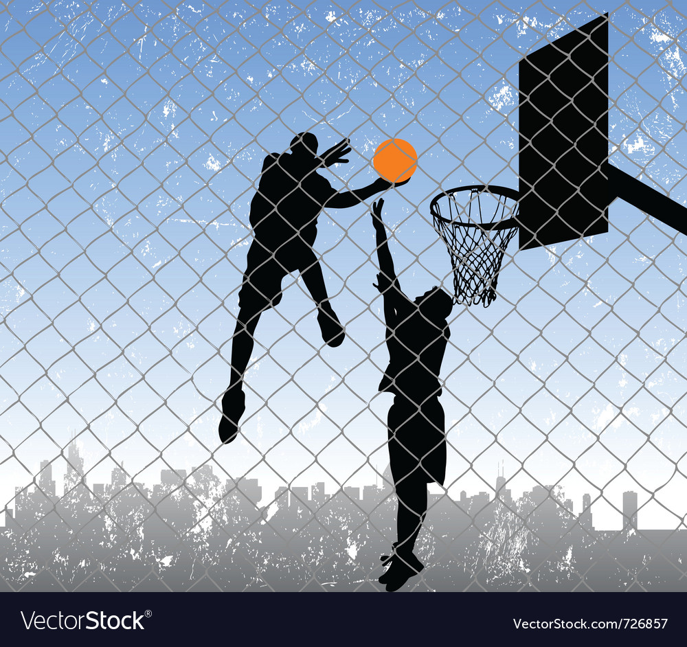 Basketball in the street vector | Price: 1 Credit (USD $1)