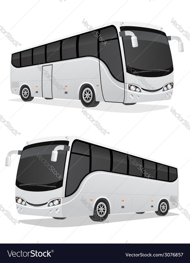 Big tour bus 03 vector | Price: 3 Credit (USD $3)