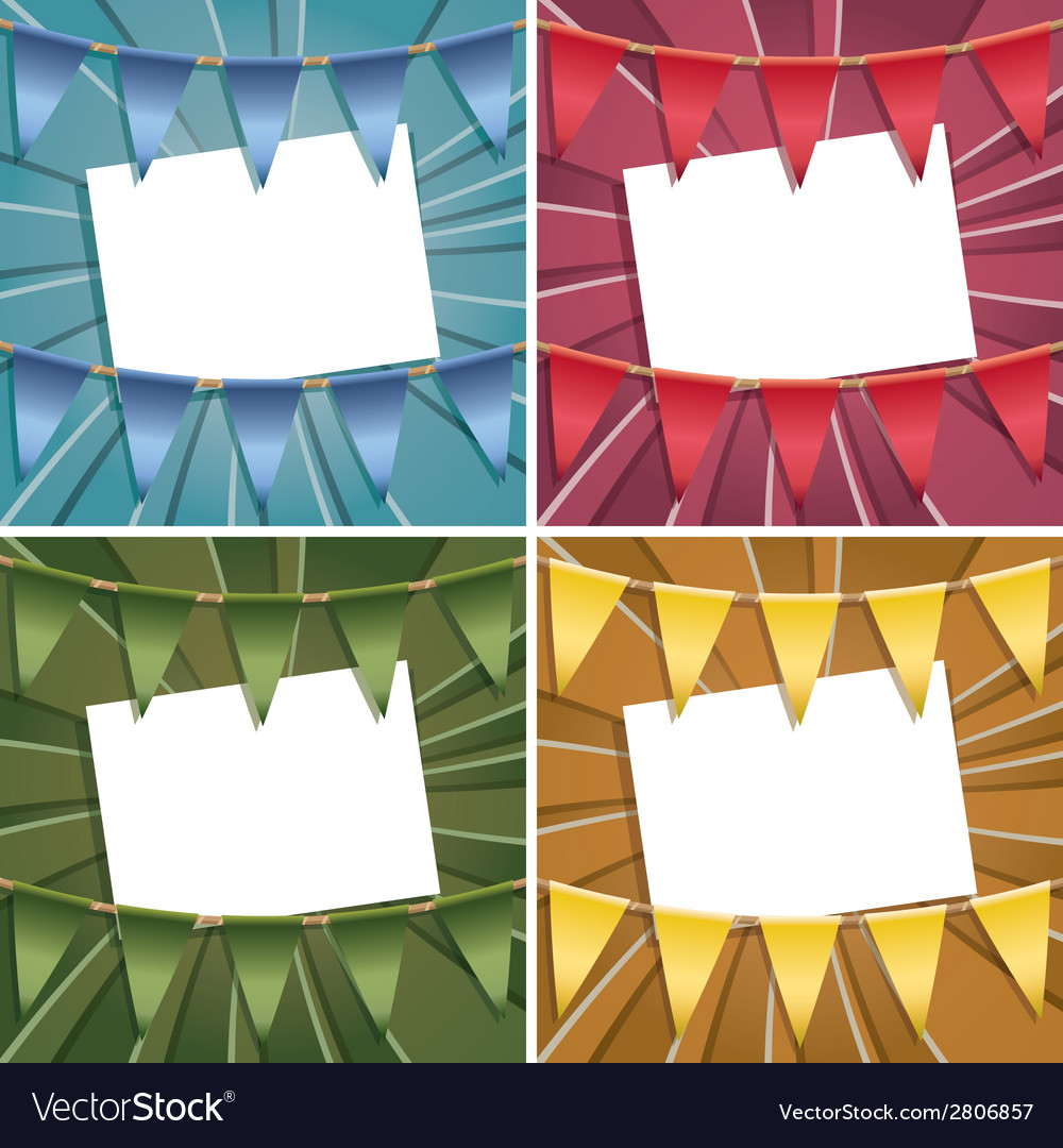 Bunting card decorations vector | Price: 1 Credit (USD $1)