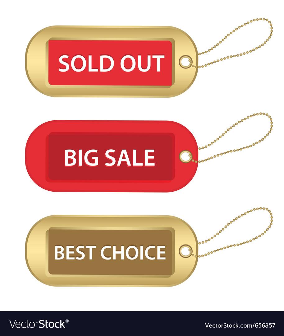 Christmas sale tags vector   Price: 1 Credit (USD $1)