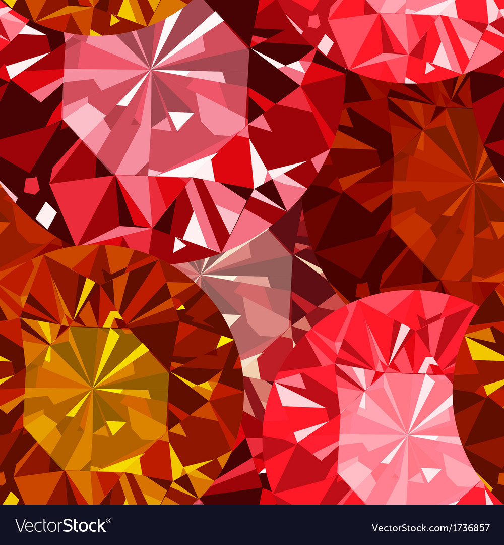Gem seamless pattern ruby seamless pattern vector | Price: 1 Credit (USD $1)