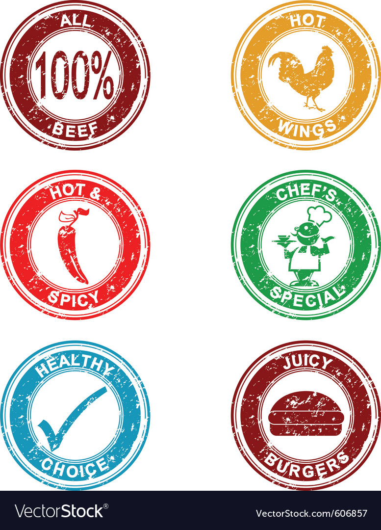 Grunge restaurant stamps collection vector | Price: 1 Credit (USD $1)