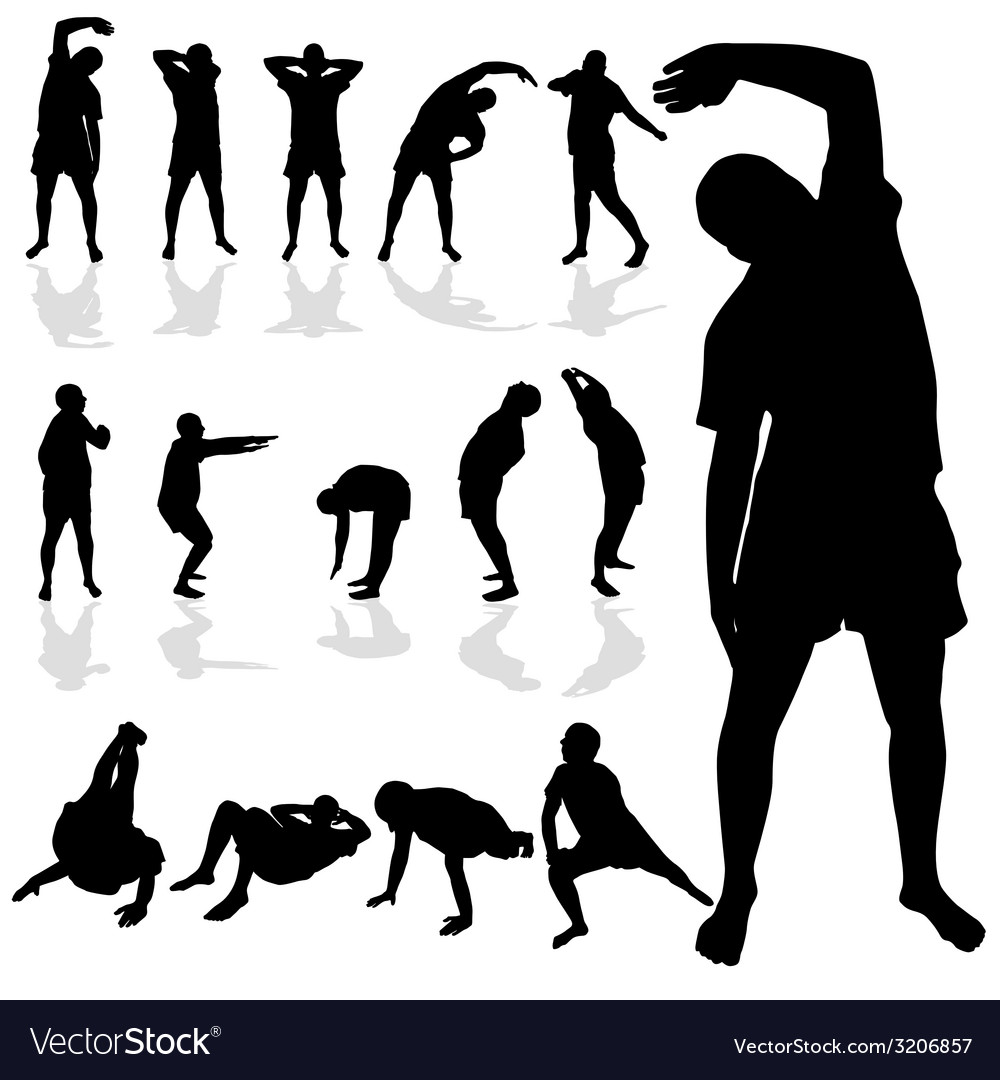 Gymnastic man black silhouette vector | Price: 1 Credit (USD $1)