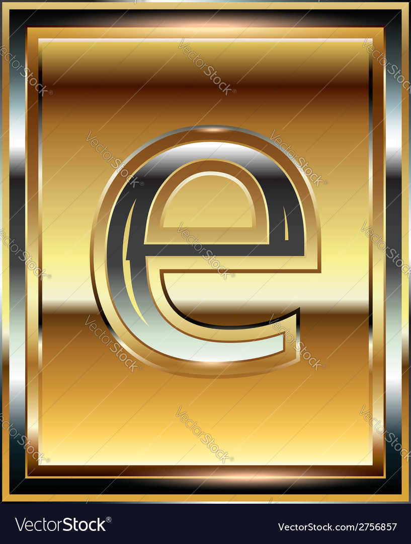 Ingot font letter e vector | Price: 1 Credit (USD $1)